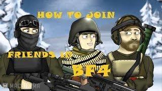 ساحة المعركة 4 (Ps4) كيفية الانضمام على ''أصدقاء'' من في لعبة ''القائمة'' باستخدام ''Battlelog''