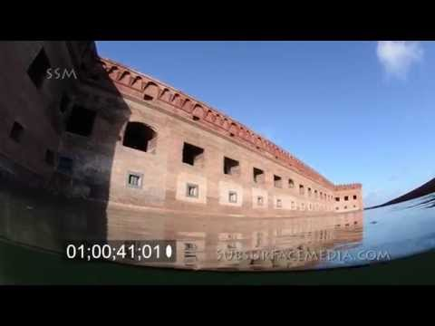 Fort Jefferson Moat Over and Underwater