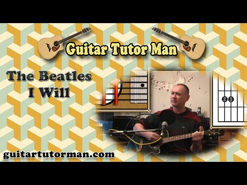 I Will - The Beatles - Acoustic Guitar Lesson