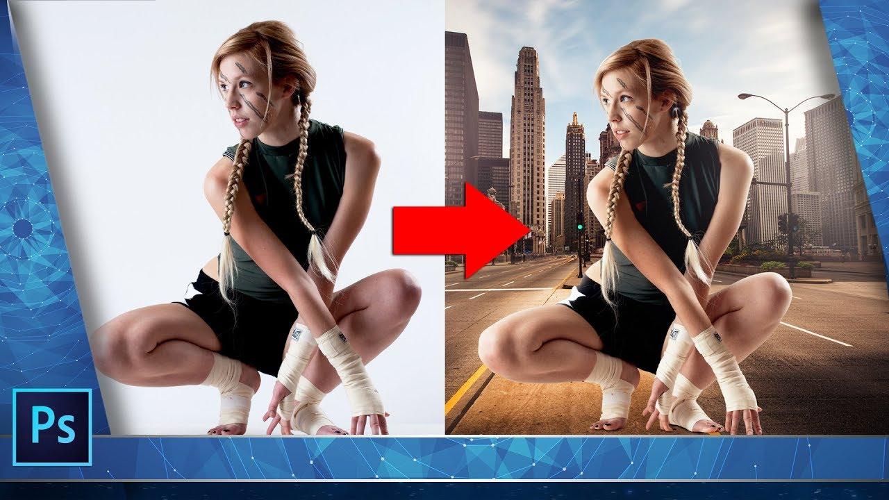 Как поменять фон на фото. Как вставить фон в фотошопе ...