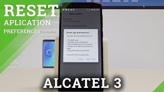 ALCATEL 3 Reset App Preferences / Restore App Settings