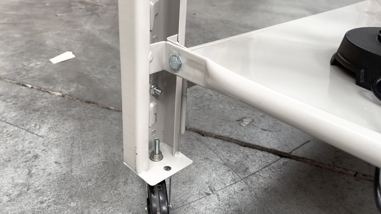 How to install wheels on the workbench & shelving