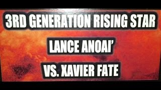 Xavier Fate vs. Lance Anoa