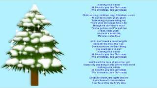 video Lyrics - All I Want Is You This Christmas by NSync
