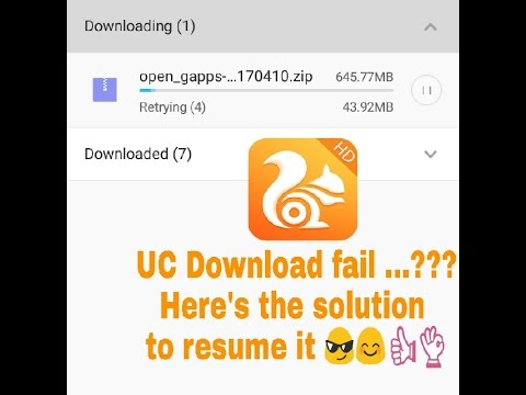 How To Resume Non Resumable Or Expired Link Download In Uc Browser