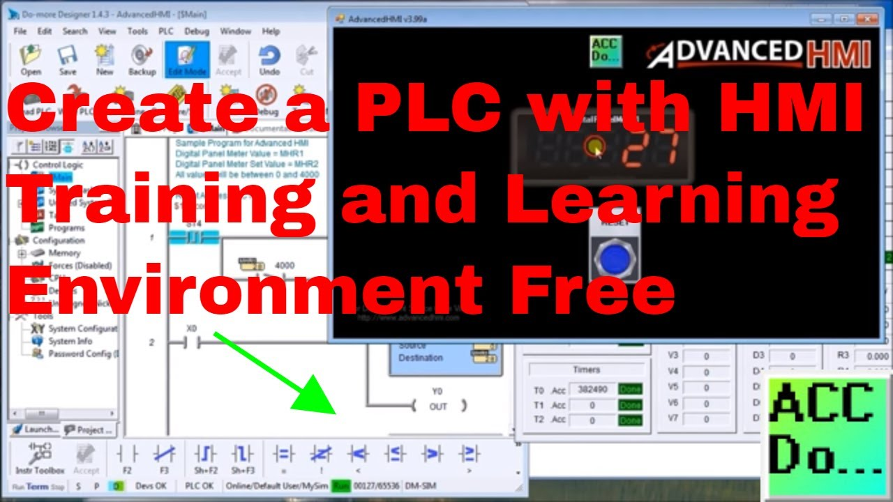 Create a PLC with HMI Training and Learning Environment Free