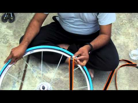 How to Install Mr Tuffy liner in a Road Bike Tire - YouTube