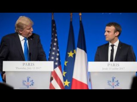 President Trump downplays differences with French president