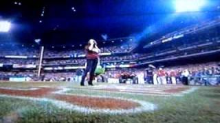 Alanis Singing at World Series