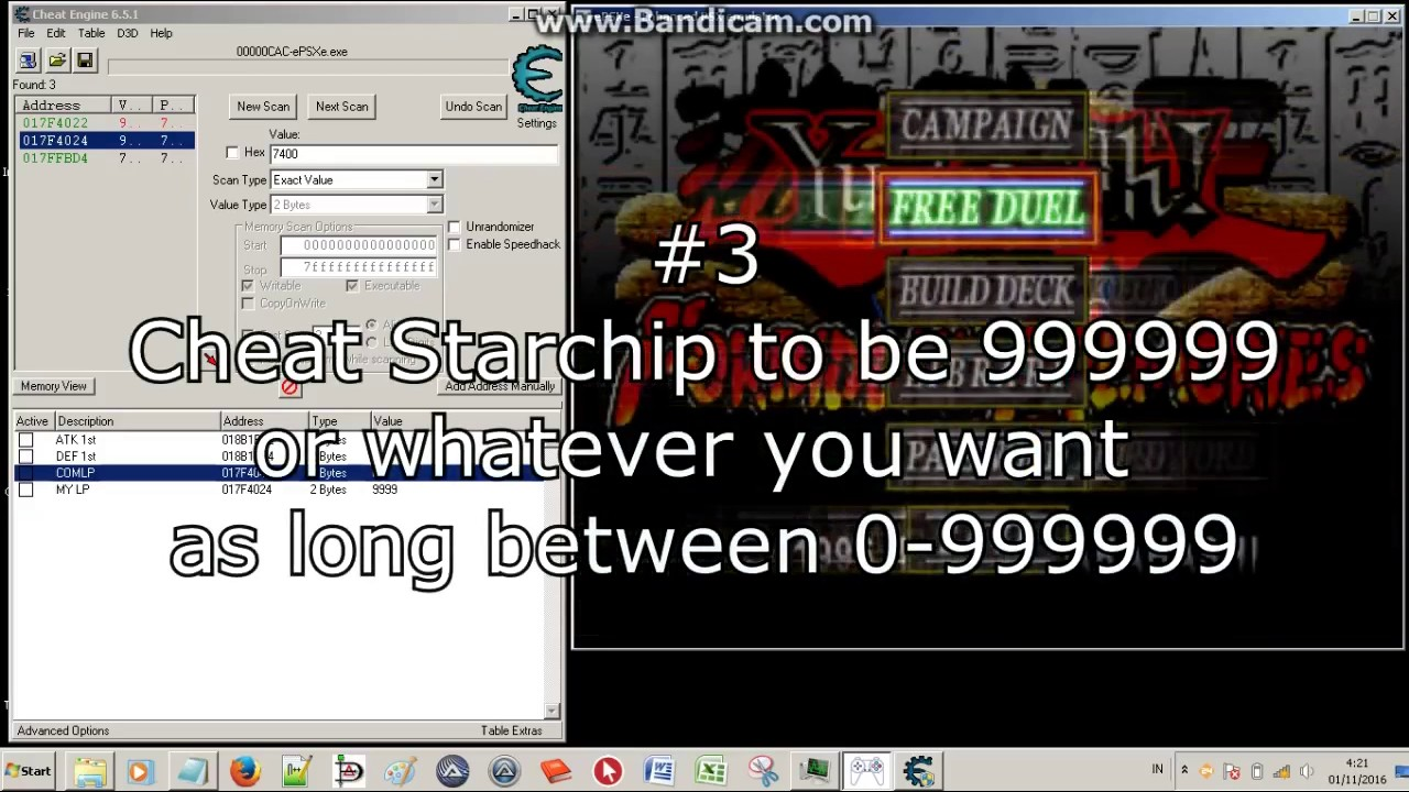 Yugioh Forbidden Memories Cheat Engine ALL CARD STARCHIP