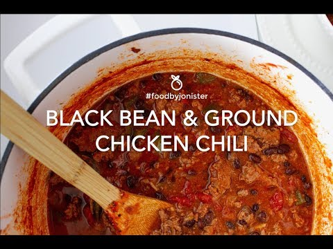 Black Bean And Chicken Chili  | #foodbyjonister