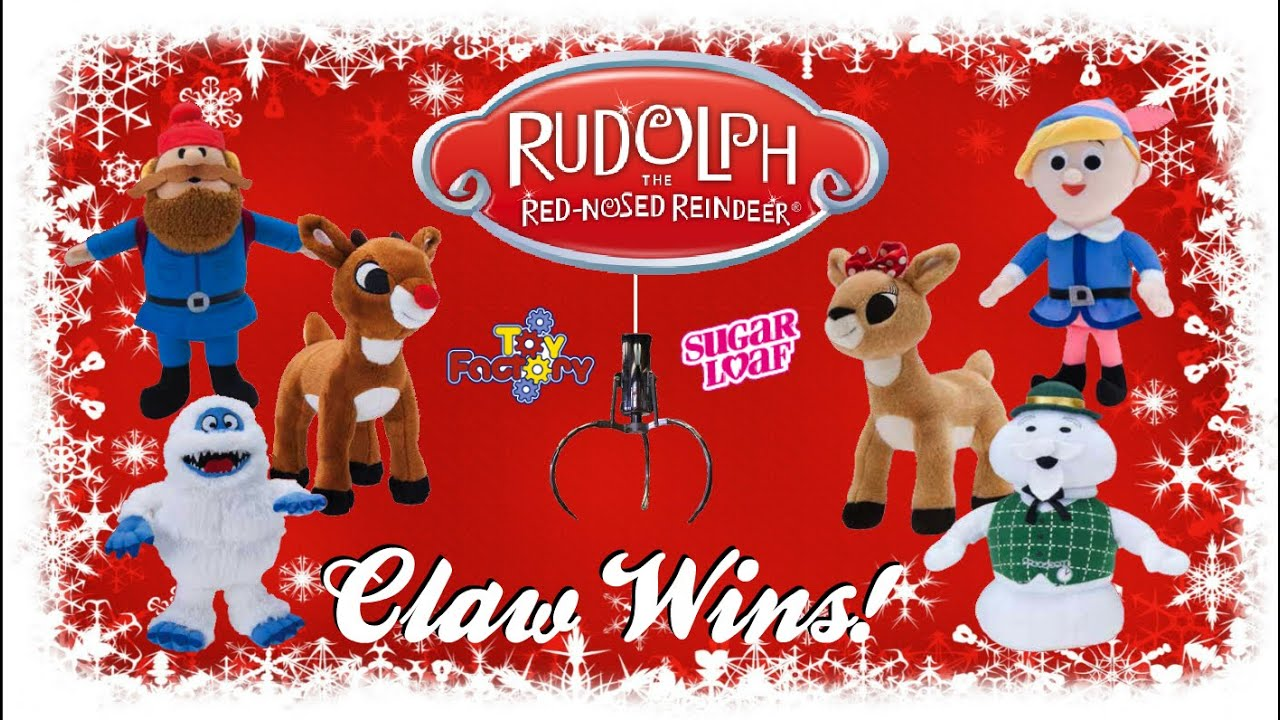 all 6 rudolph the red nosed reindeer character claw wins youtube