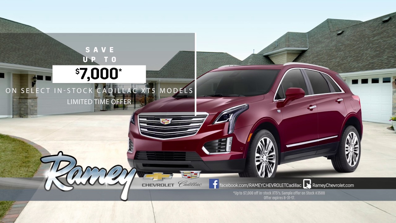 Ramey Cadillac - August 2017 XT5 Commercial - 30 second - YouTube