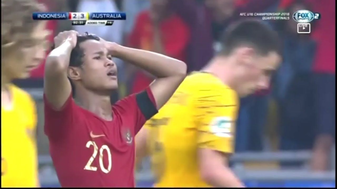 Indonesia vs Australia (2-3) Highlights (English Commentary) - AFC U-16  2018: Perempat Final