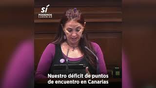 María del Río sobre los puntos de encuentro familiar en el Parlamento de Canarias