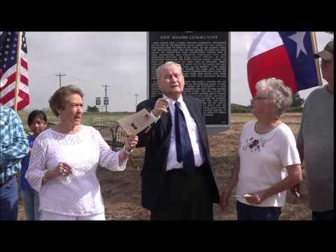 Dedication of Texas Historical Marker at New Moore
