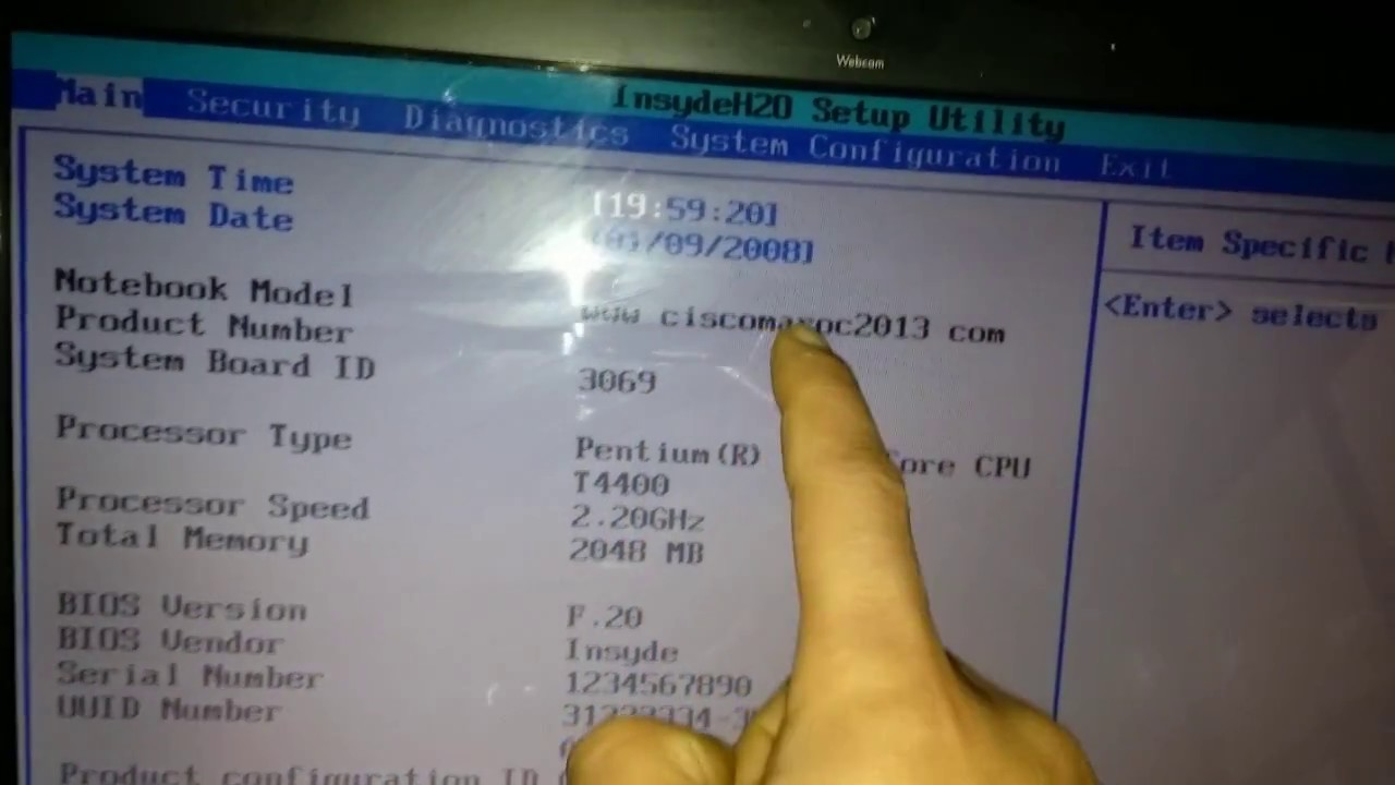 Serial Number Not Found Hp Compaq Laptop G61