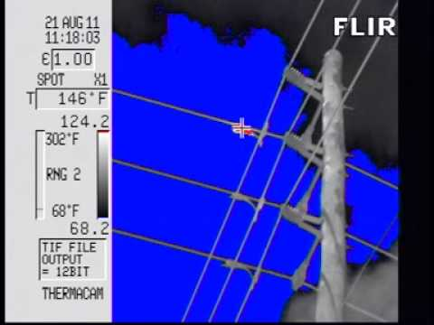 Hot Spot Found on Power Line During Infrared Inspection