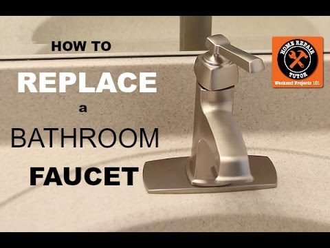 how to replace a bathroom faucet by home repair tutor
