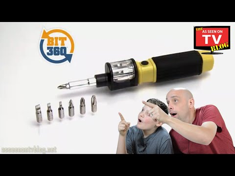 Bit 360 Screwdriver Commercial As Seen On TV | Buy Bit 360 As Seen On TV Multi Bit Screwdriver