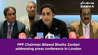 PPP Chairman Bilawal Bhutto Zardari addressing press conference in London | 20 Feb, 2019