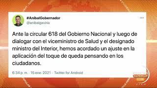 Alas 6:00 p.m. inicia el toque de queda en el Oriente y Valle de Aburrá - Telemedellín