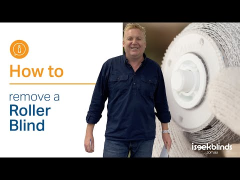 Trouble Shooting - How to Remove a Roller Blind - YouTube