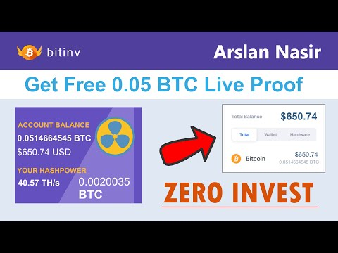 Bitinv - Smart Bitcoin Miner | Mine Free Bitcoin Get ( 0.05 BTC ) Live Withdraw Proof + Zero Invest