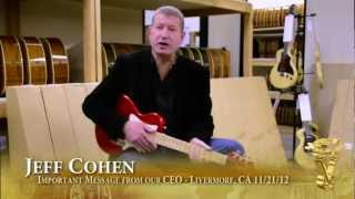 Jeff Cohen CEO of Voyage-Air Guitar with an important message
