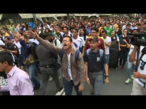 Venezuelan youth protests against President Maduro