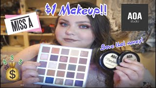 FULL FACE $1 MAKEUP! • SHOP MISS A