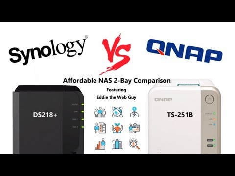 Synology DS218+ vs QNAP TS-251B - Affordable NAS Comparison - YouTube