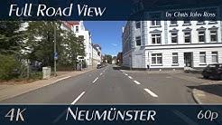 Neumünster, Schleswig-Holstein, Germany: Wasbeker Straße, B430, Roonstraße - 4K Ultra HD Video