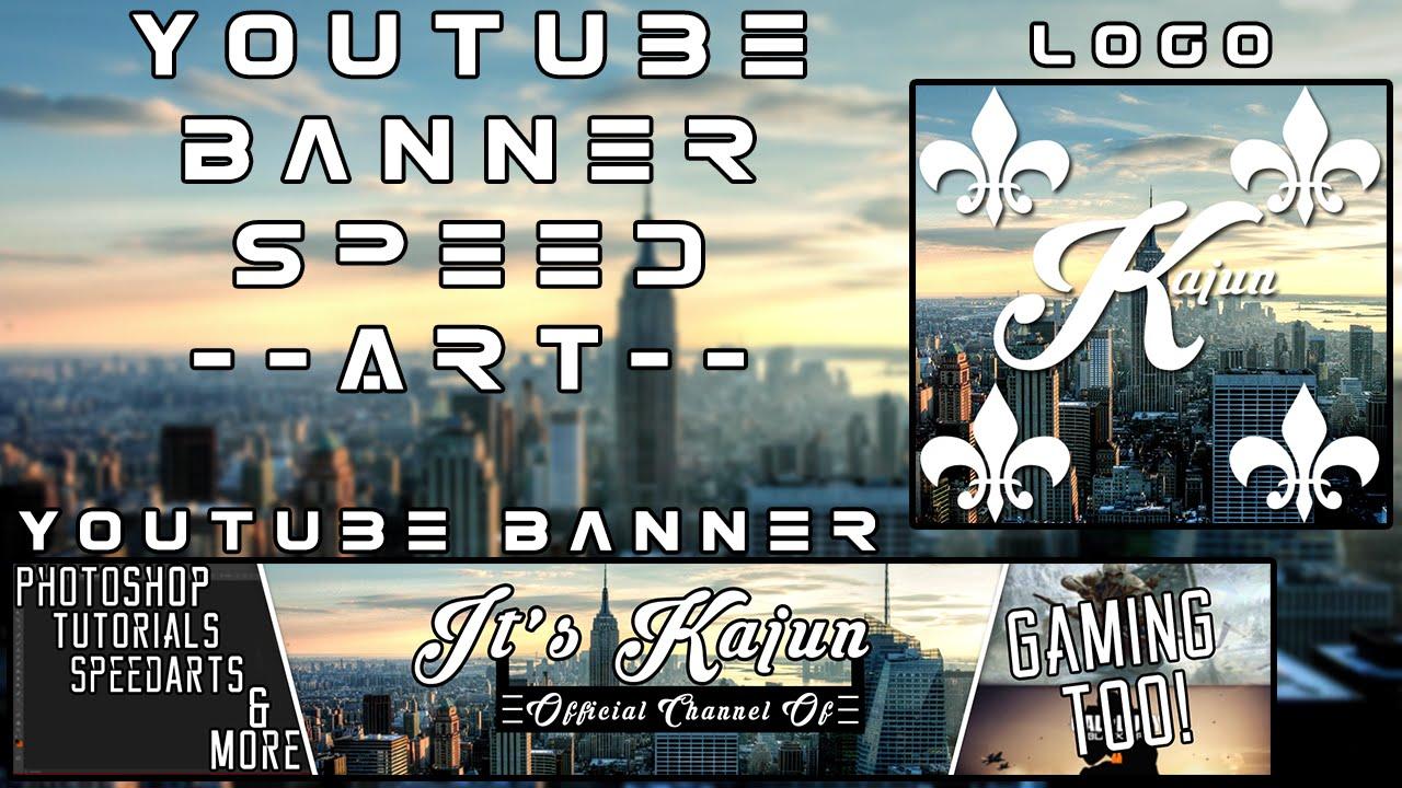 It S Kajun Youtube Banner Speed Art Youtube
