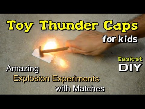How To Make Thunder Caps at home | Toy thunder Cap for kids | Diwali special