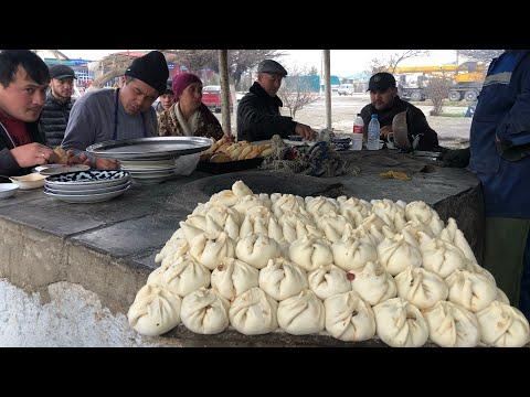 Сьедают так быстро, что не успевает остыть!Узбекская самса и базарный плов!Узбекистан!