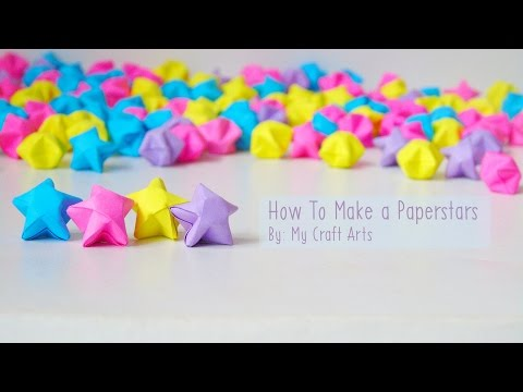 Tutorial How to Make an Origami Paperstars (Cara Membuat Kertas Origami Bintang)