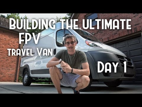 Pro Drone pilot wants to fly EVERYWHERE #VANLIFE Build (Day 1 Window install) Ram Promaster