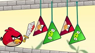 Angry Birds Pigs Out - RESCUE TRIANGE BIRDS AFTER CUTTING ROPE OF TRIANGLE PIG!