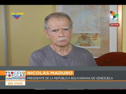 Oscar López Rivera en contacto telefónico con Nicolás Maduro por Telesur