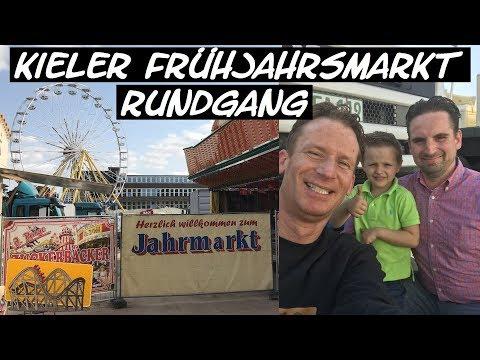 Kieler Frühjahrsmarkt 2018 Rundgang   Funfair Blog #157 [HD]