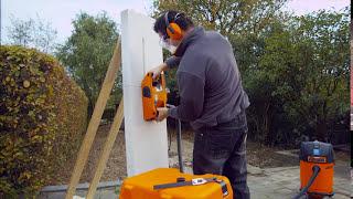 Wie funktioniert eine Mauernutfräse?