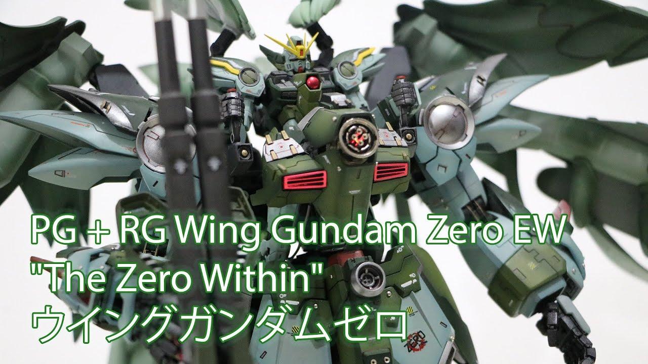 """PG + RG Wing Gundam Zero EW """"The Zero Within"""" - Custom Build(ウイングガンダムゼロ)"""