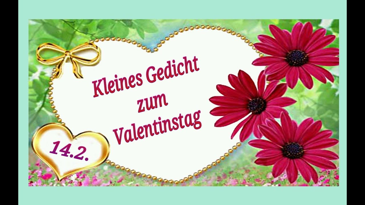 kleines gedicht zum valentinstag youtube. Black Bedroom Furniture Sets. Home Design Ideas