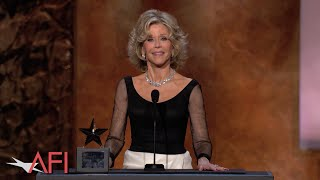 Jane Fonda accepts the 2014 AFI Life Achievement Award