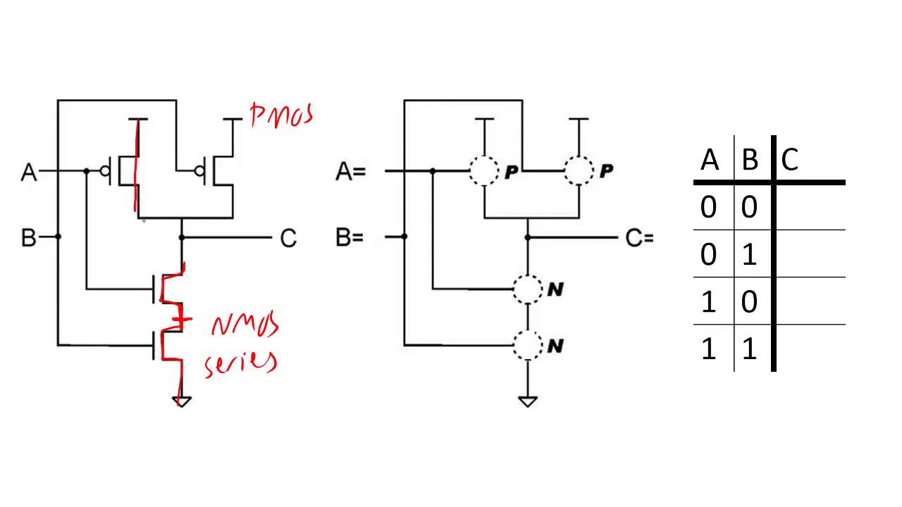 Building logic gates from mosfet transistors youtube pooptronica