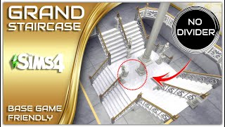 Sims 4 Grand Staircase Railing Free   BASE GAME   NO CC / MODS   Sims 4 Stairs Tutorial