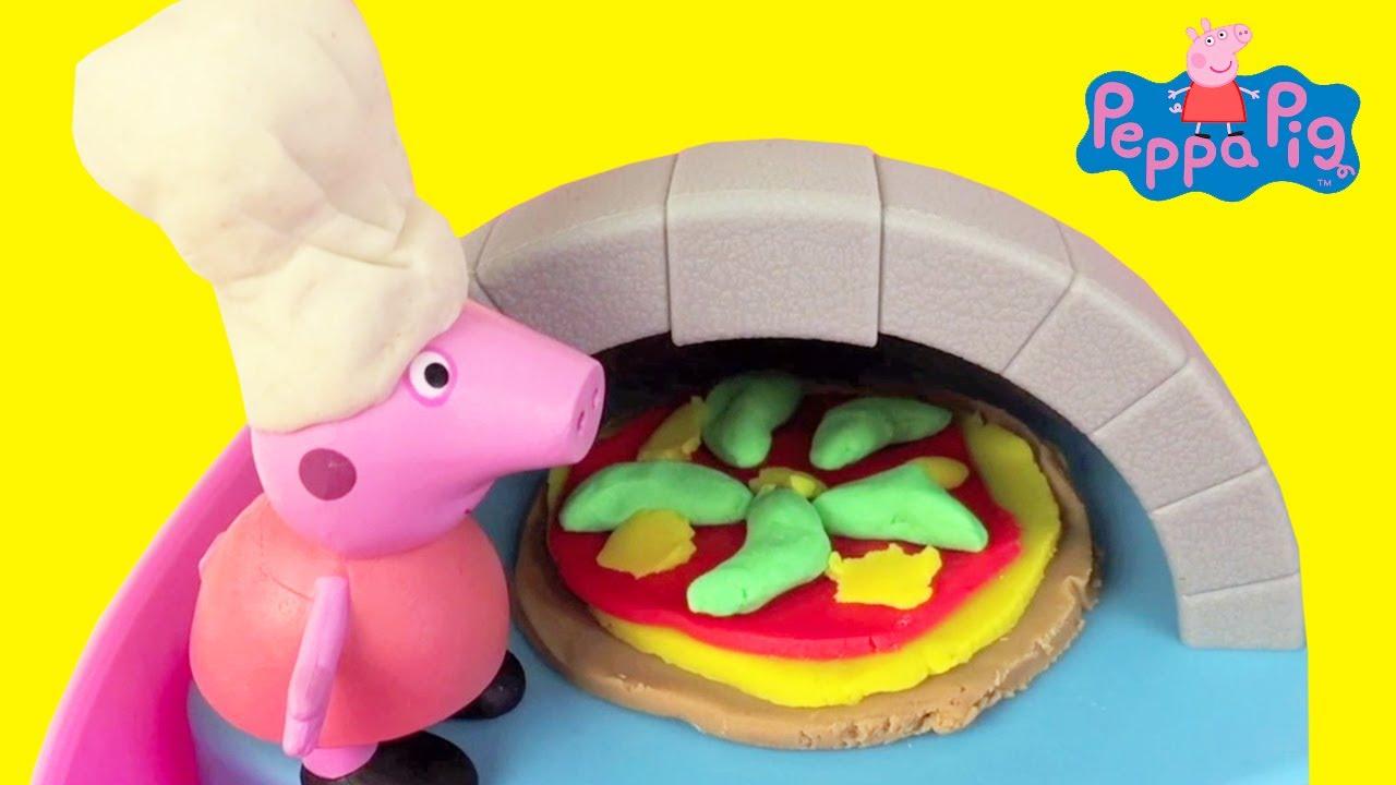 Pizza Maken Van Klei Met Peppa Pig Oventje Filmpje Voor Peuters