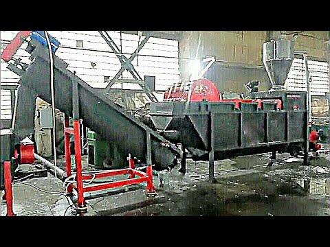 Работа линии  переработки и мойки полимеров. Производство компании StankoPro.