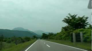 阿蘇山・やまなみハイウェイ・絶景・日本の道100選 Yamanami Highway 2012